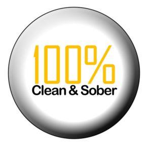 100% clean & sober
