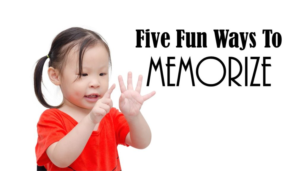 Five Fun Ways To Memeorize